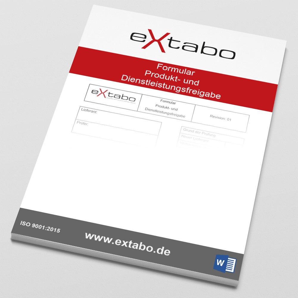 Formular: Produkt- und Dienstleistungsfreigabe - Rev.01 Image