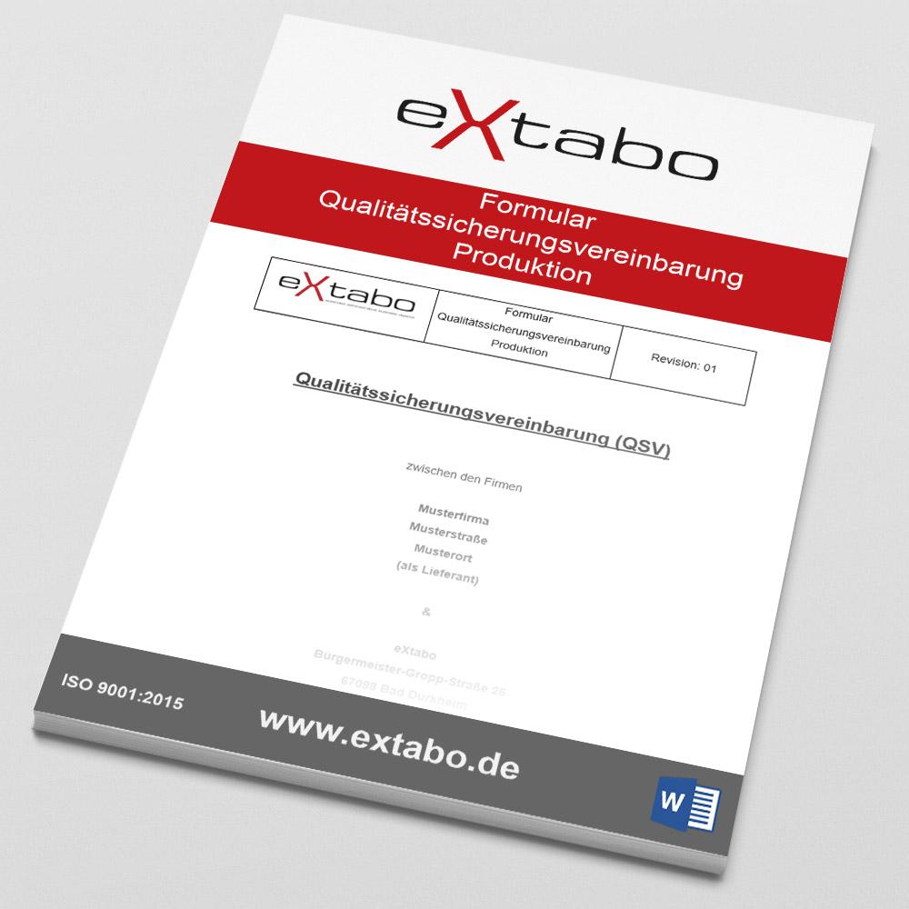 Formular: Qualitätssicherungsvereinbarung Produktion - Rev.01 Image